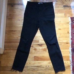 Madewell Jeans - Madewell Sz 27 Black ripped knee jeans